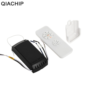 QIACHIP Universal Ceiling Fan Light Lamp Timing Speed Controller Switch Wireless Remote Control Kit Transmitter and Receiver DIY(China)