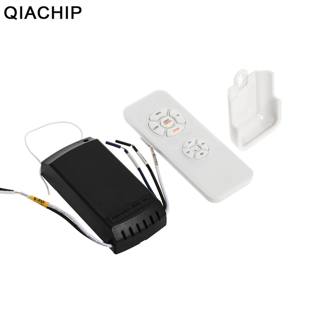 QIACHIP Universal Ceiling Fan Light Lamp Timing Speed Controller Switch Wireless Remote Control Kit Transmitter and Receiver DIY