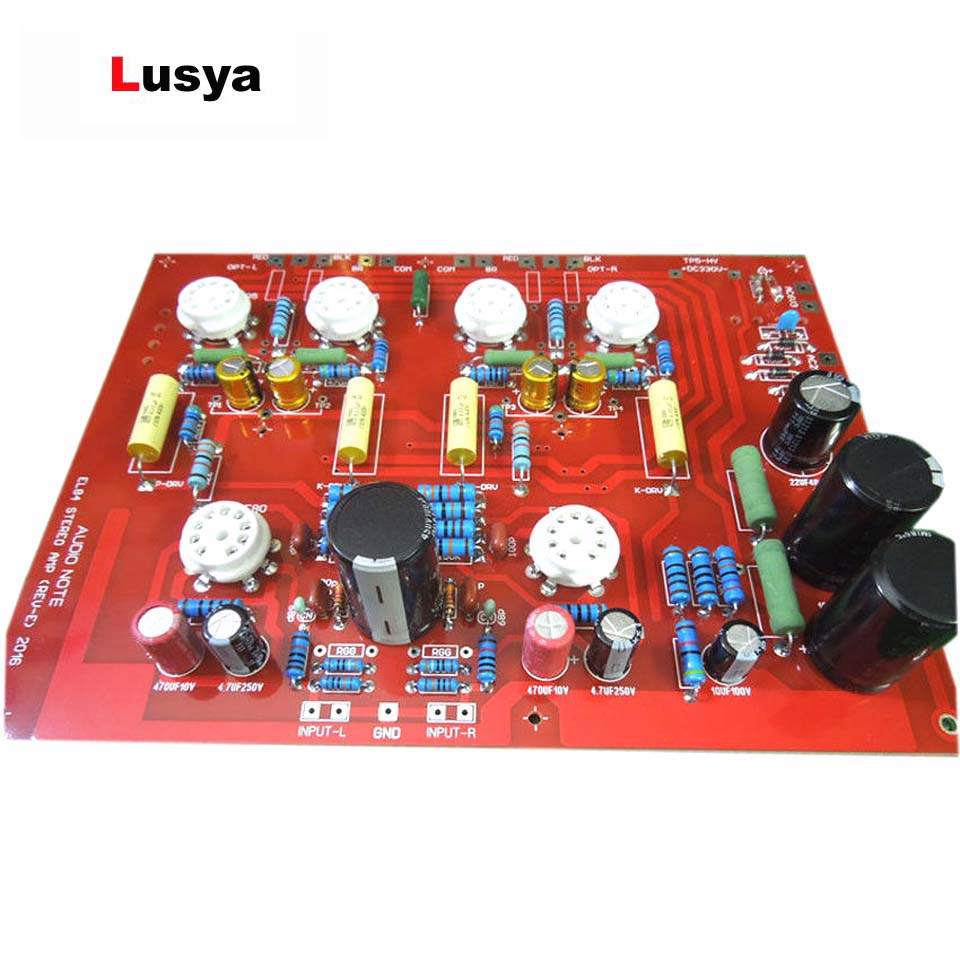 Lusya Hi End Stereo Push Pull El84 Vaccum Tube Amplifier Pcb Diy Kit Preamp Pushpull Circuit New Ref Audio