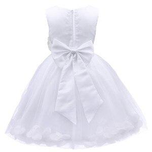 Image 2 - TiaoBug Infant Vestido Infantil Flower Girls Dresses Petals Elegant Pageant Formal Flower Girl Dress for Wedding Party Dresses