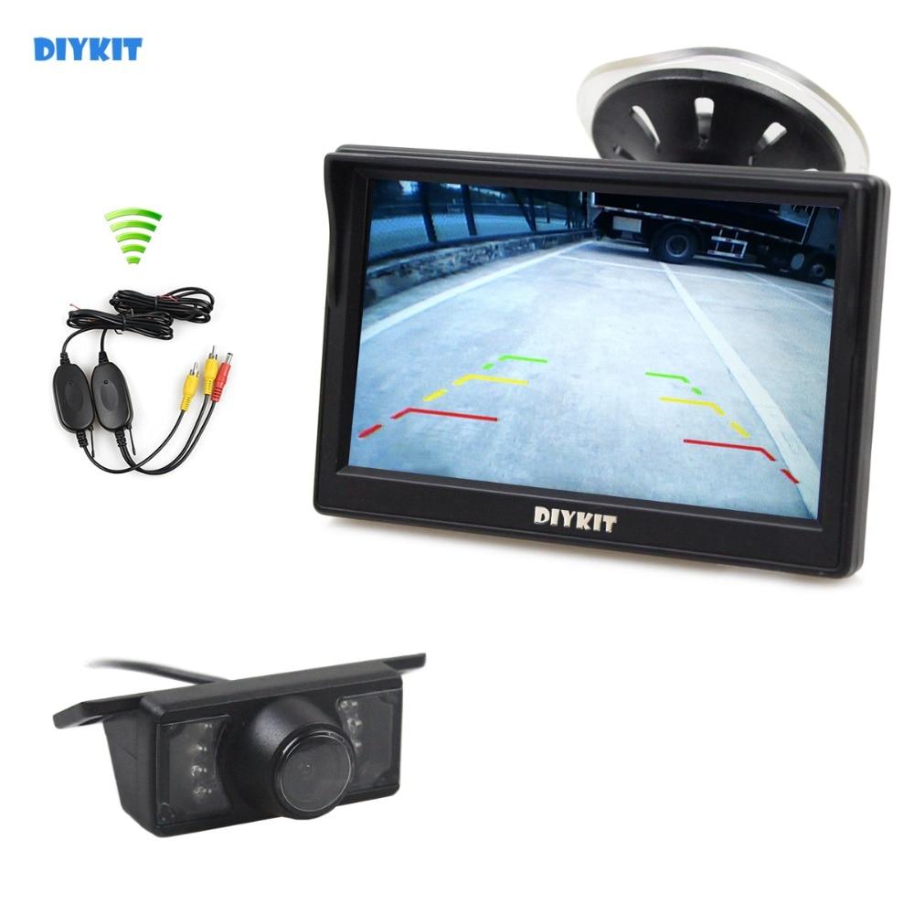 DIYKIT Wireless 5inch Rear View Monitor Car Monitor Car Van Truck Parking IR Night Vision Reversing