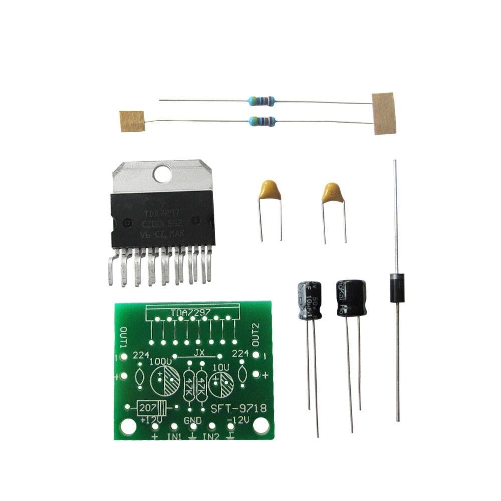 HAILANGNIAO 1kit TDA7297 amplifier board spare parts dc 12v grade 2.0 dual audio encoding 15w electronic diy kit