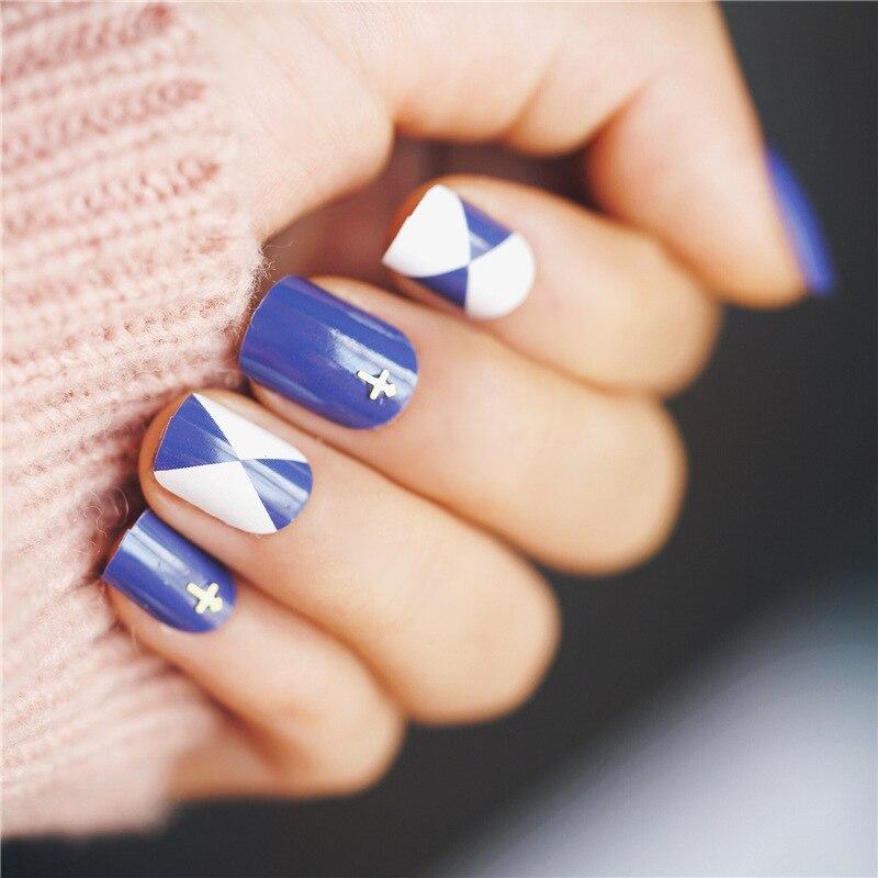 Aliexpress.com : Buy 24Pcs Cross Design False Nails Summer