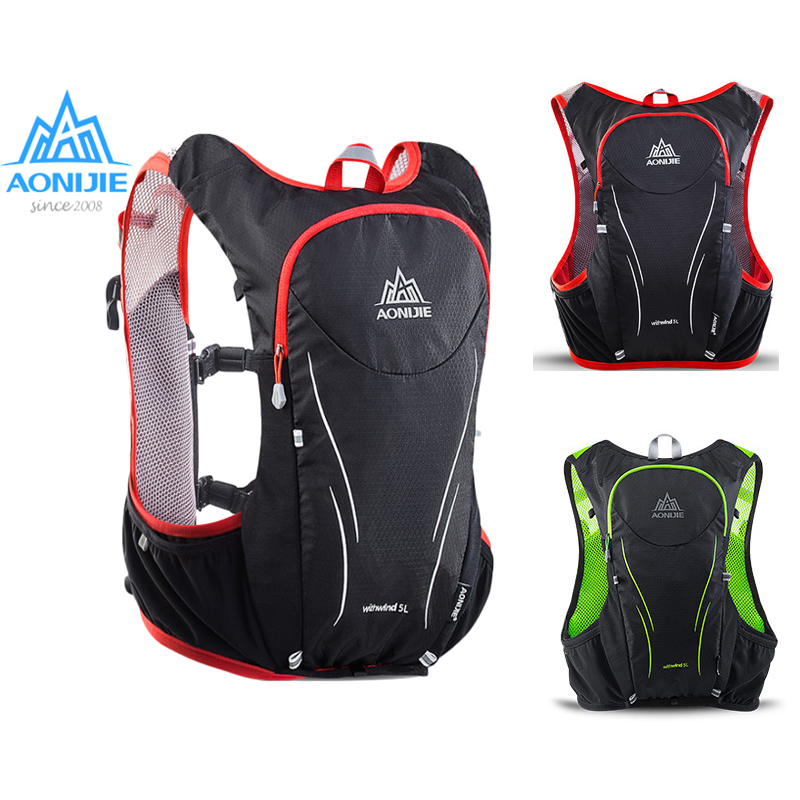 5eb9e3d8dcbd AONIJIE 5L Women Men Marathon Hydration Vest Pack For 1.5L Water Bag  Cycling Hiking Bag Outdoor Sport Running Backpack