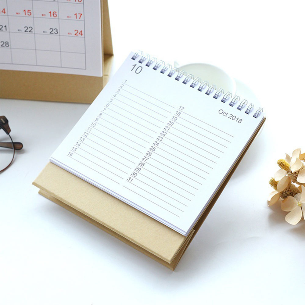 Stand Up Planner Schedule Desk Calendar Gift Simple Home