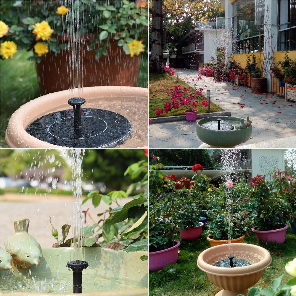Solar Fountain Pump Solar Fountain Pump With Battery Backup 1 5w Upgraded Submersible Solar Water Fountain Panel Kit For Bird Bath Small Pond In Led Bulbs Tubes From