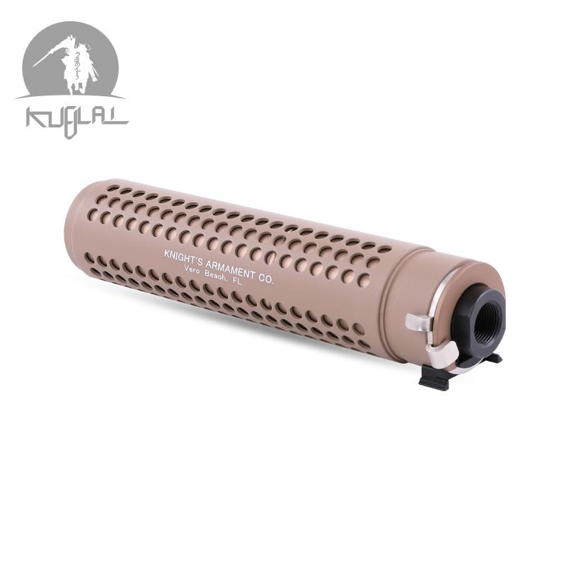 Kublai KAC Silencer Tan 14mm Silencer with QD Flash Hider for AEG Airsoft