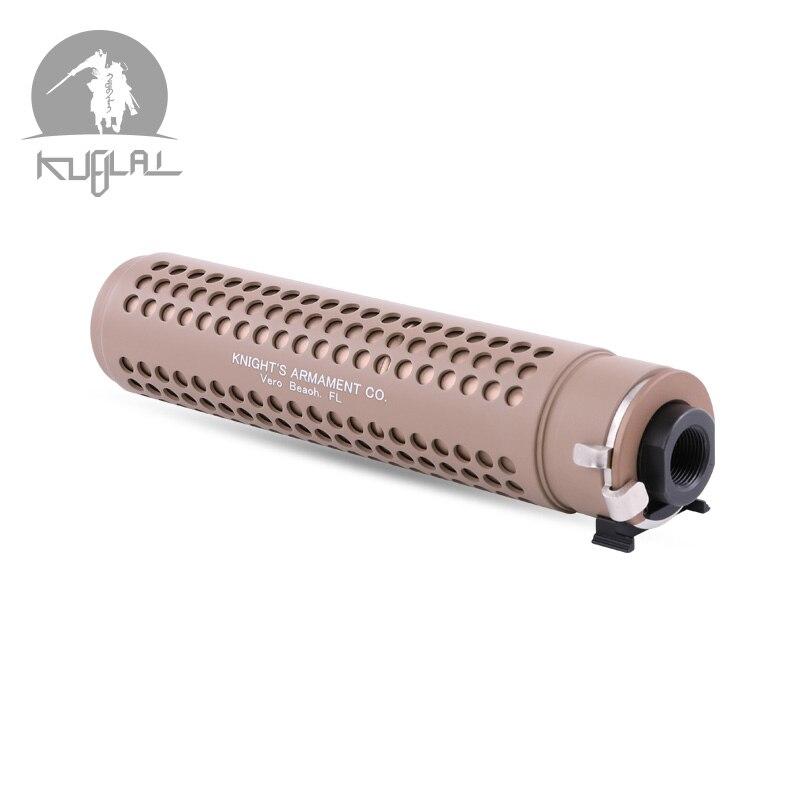 Kublai KAC silencieux Tan 14mm silencieux avec QD Flash Hider pour AEG Airsoft