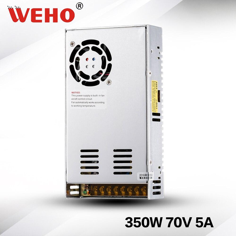(S-350-70)Metal case Cooling Fan 350W switching power supply DC 70V 350w power supply s 350 5 cooling fan ac to dc switching power supply 50a 5v power supply 350w