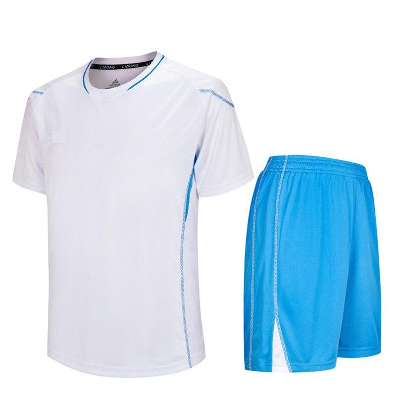 2018 New Summer Futbol Training Suit Boys Soccer Jersey Youth Set Kids Football Kits Blank Maillot De Foot Short Sleeve Sets DIY