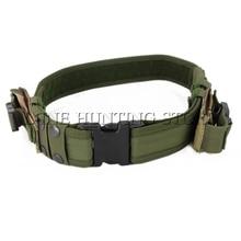 Тактический пояс для страйкбола Охотничьи аксессуары с сумкой для журналов безопасности тренировочный ремень армейский зеленый