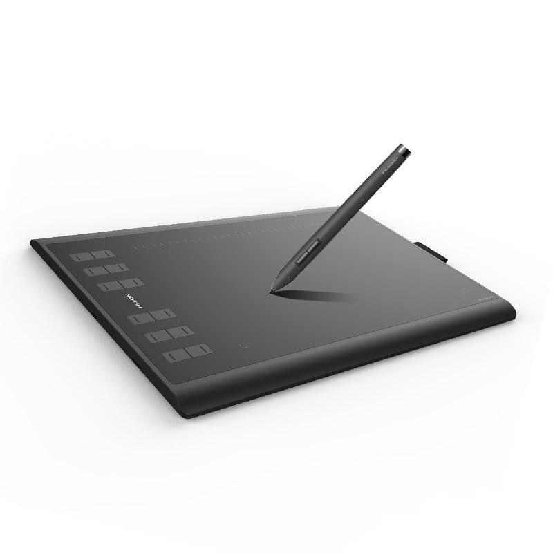 Huion novo 1060 plus 8192 níveis gráficos comprimidos de desenho digital assinatura caneta tablet com filme presente
