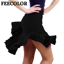 FEECOLOR sexy Women Dances mini skirt Dress New Style Latin Chacha rumba Dance Costume