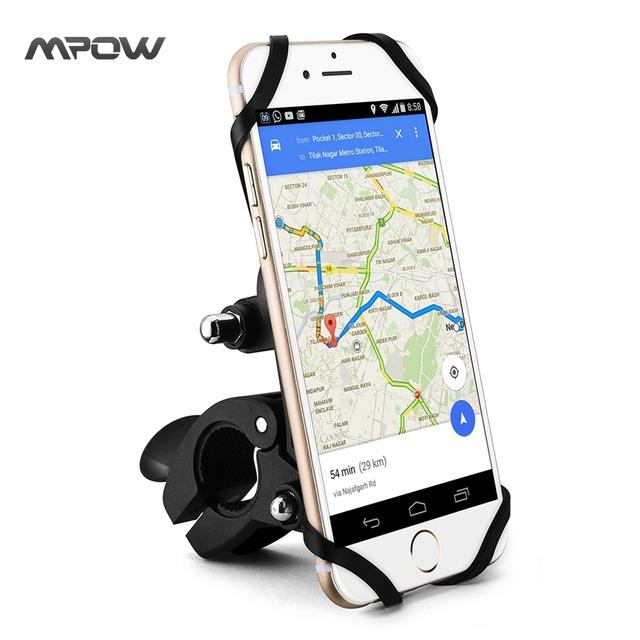 Mpow magnética universal bike mount holder teléfono para bici de la motocicleta manillar iphone 6/6 s plus 5S galaxy s5 s6 edge