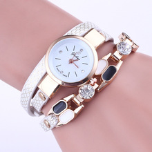 цены Top Brand Ladies Watch Women Luxury Crystal Jewelry Bracelet Wrist Watches Woman Casual Leather Quartz Watch Clock Gifts montre