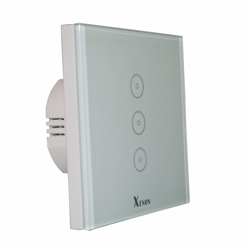 EU 3 Gang Wall Switch Control via APP or Voice Control by Alexa Work with Echo WiFi Smart Home Control Light Switch Panel 2017 smart home crystal glass panel wall switch wireless remote light switch us 1 gang wall light touch switch with controller