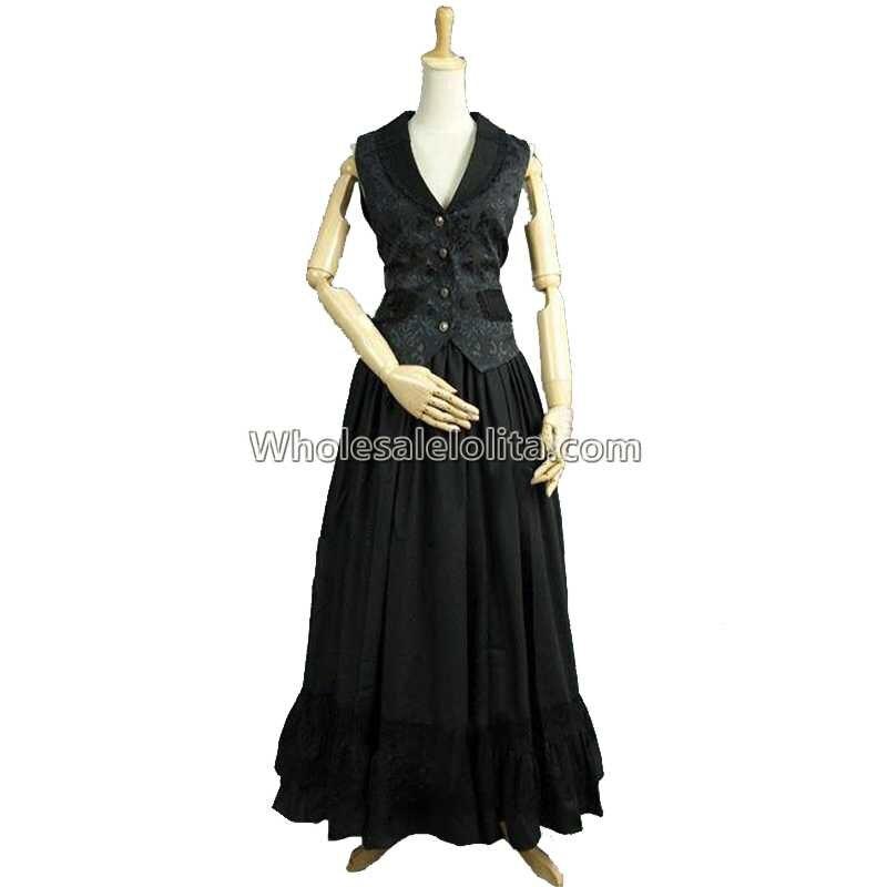 Викторианской эпохи короля Эдуарда черный жилет 2 pc костюм Аббатство Даунтон Театр костюм стимпанк Пальто для будущих мам