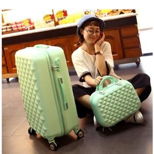 Image 5 - مجموعة حقائب سفر للبنات ترولي لطيفة من ABS حقيبة سفر رخيصة على عجلة
