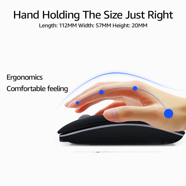 Wireless Mouse Computer Bluetooth Mouse Silent PC Mause Rechargeable Ergonomic Mouse 2.4Ghz USB Optical Mice For Laptop PC 4