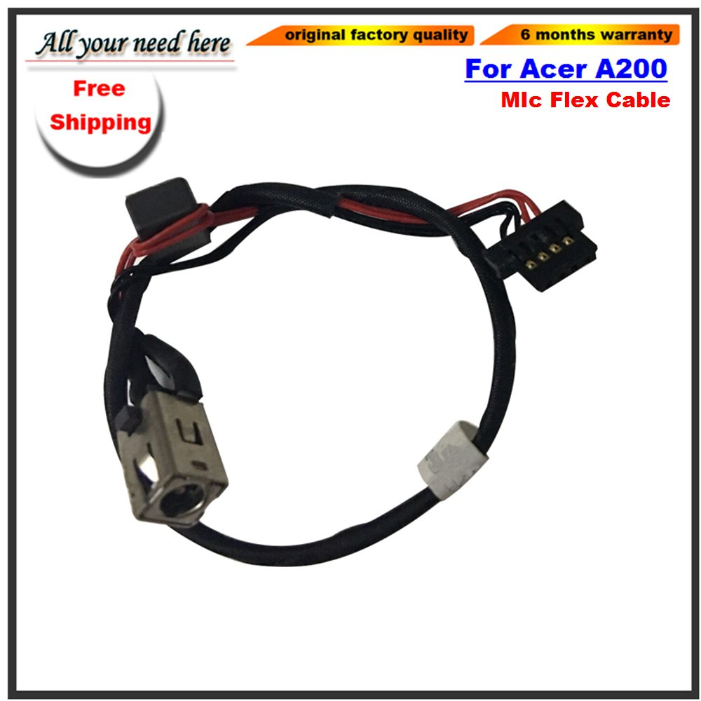 Mic Flex Cable For Acer Iconia Tab A200 A21 10 1 Tablet Replacement Repair  Headphone Jack Flex Cable Cell Phone Data Cables Head Phone Cables From