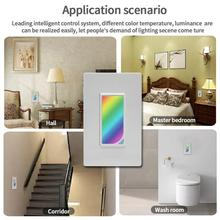 Get more info on the US Wifi Smart Home Light Dimmer Switch LED RGB Scene 1200 Colors Light Switch Compatible with Smart Life Tuya Google Home Alexa