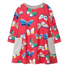 girl dresses baby clothes butterfly autumn spring children clothing girls long sleeve fashion cotton princess frocks kids dress spring autumn cute baby kids girls party dress kids clothes cotton toddler girl clothing long sleeve baby girl princess dress