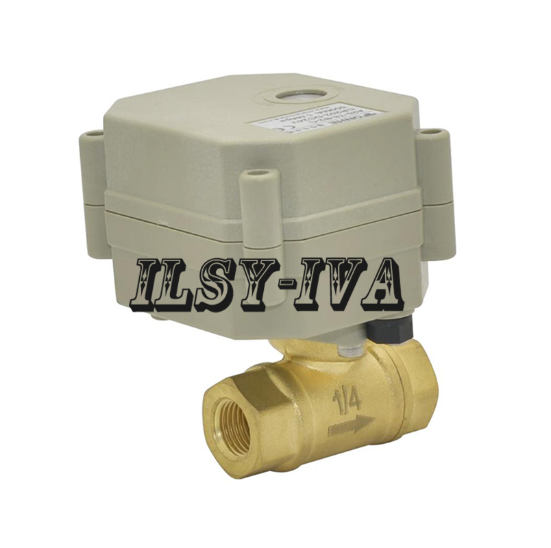 "Banjo Electric 3 Way Directional Ball Valve: 2018 New Arrival 1/4"" DN8 Brass Electric Ball Valve"