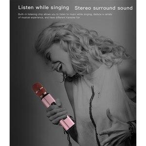 Image 3 - Профессиональный Портативный беспроводной Bluetooth микрофон для караоке, двойной динамик с динамическим микрофоном для любителей музыки, записи пения