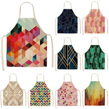 Kitchen Aprons Baking Home-Cooking Shop Cleaning Cotton 1pcs for Woman And Linen 53--65cm/g1014