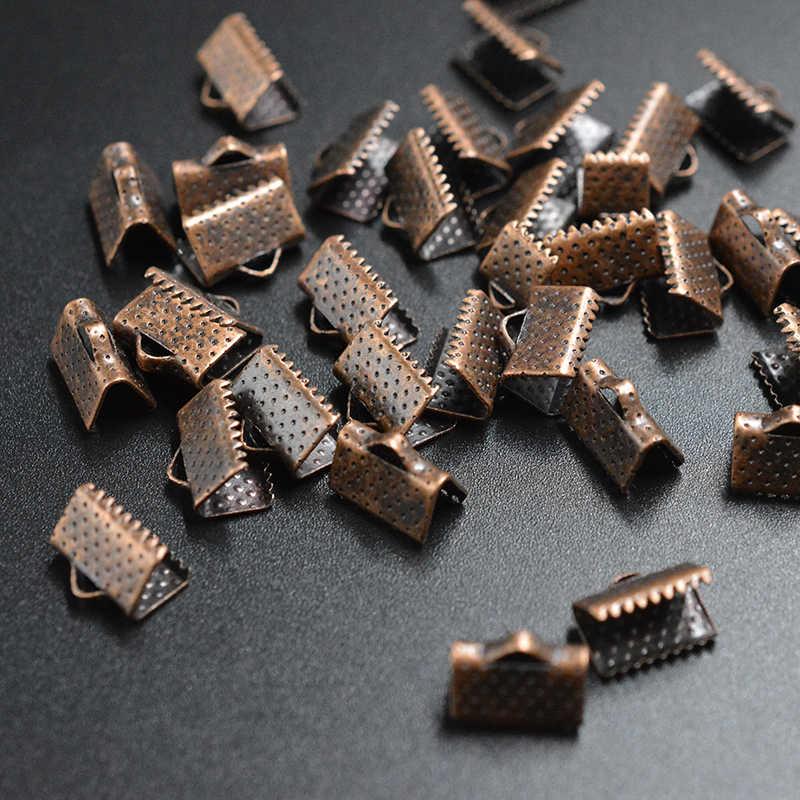 FLTMRH 20pcs 21mm GOLD/Silver สี End Clasps tener หนังสร้อยคอสร้อยข้อมือ Coor เครื่องประดับทำ