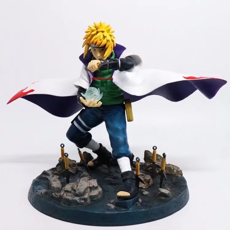 Naruto Namikaze Minato Action Figure Namikaze Minato PVC figure Toy Brinquedos Anime 22CM hot anime naruto 4th hokage namikaze 6 action figure collectible pvc model gift toy