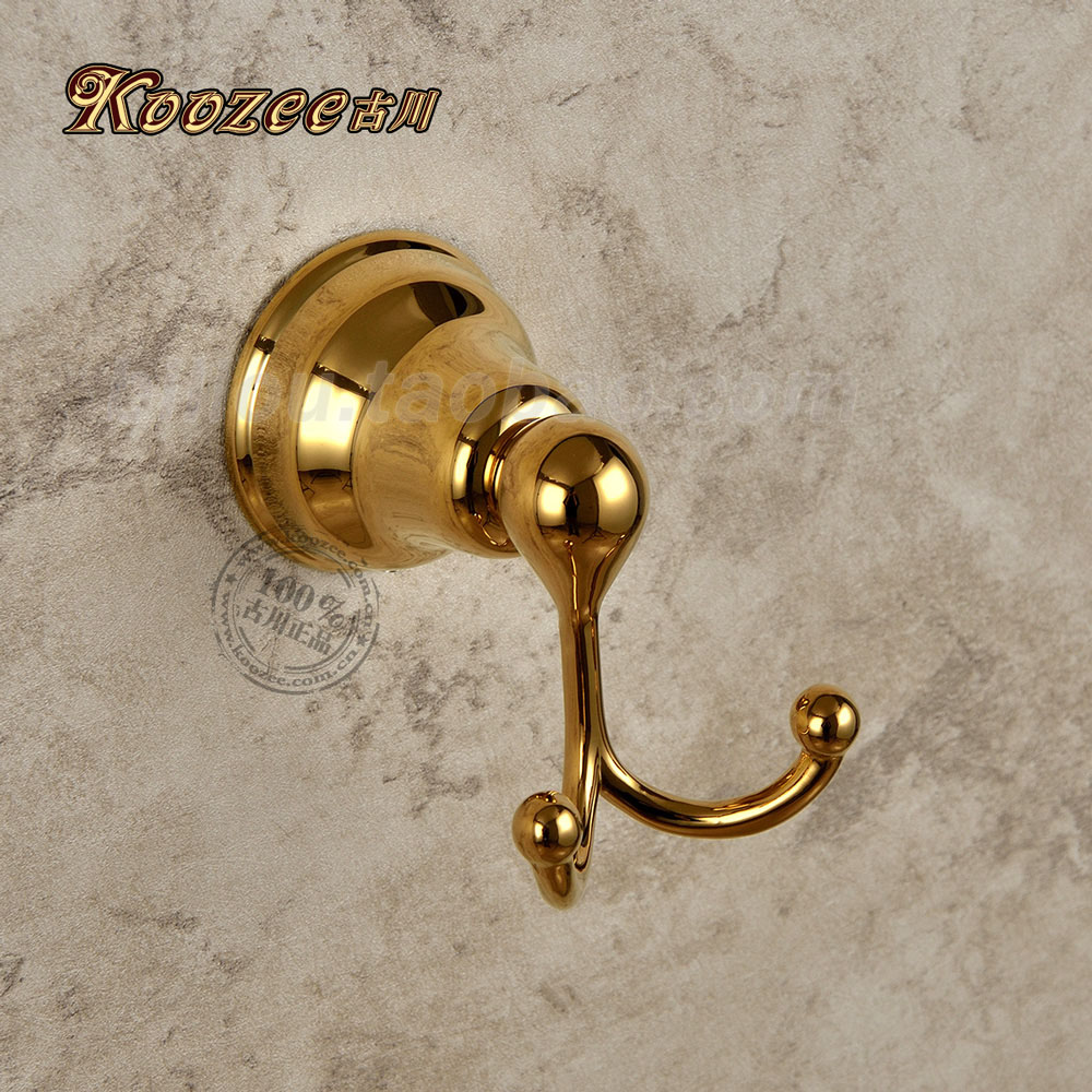 Coat Hanger Entire Copper Pendant Gold-plated Bathroom Accessories Hook Double Hook Antique Coat Hooks Single Hook