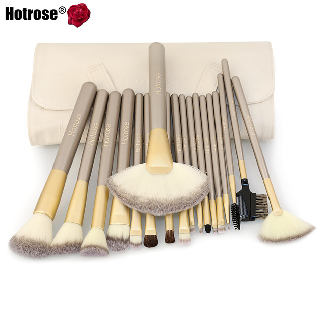 Hotrose 12/18pcs Makeup Brushes Classic Soft Synthetic Cosmetic Makeup Brush tools Proffessional Foundation Brushes Kits