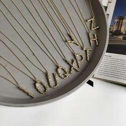 Silvology 925 пробы серебро 26 ожерелье с буквенными подвесками золото Nordic Стиль элегантное подвесное ожерелье для Для женщин модные ювелирные
