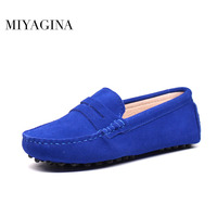MIYAGINA Shoes Women 100 Genuine Leather Flat Shoes Casual Loafers Slip On Women S Flats Shoes