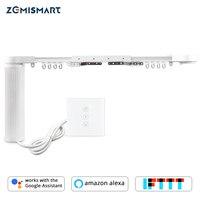 Умный Дом, Моторизованные Умные Шторы С Настенным Выключателем Alexa, Google Home, Tuya, App Control