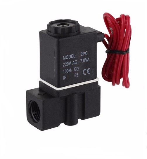 2P025-06 1/8 2way plastic solenoid valve for water DC12V,DC24V,AC36V,AC24V,AC110V,AC220V,AC380V 1 2 built side inlet floating ball valve automatic water level control valve for water tank f water tank water tower