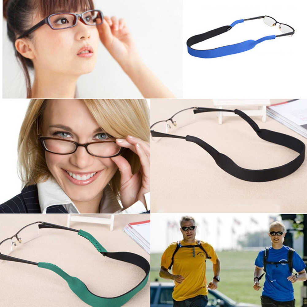 Outdoor Sunglasses Lanyard Chains Sports Eyeglasses Neoprene Lanyard Elastic Band Strap Neck Cord Rope Reading Eyeewear Chains