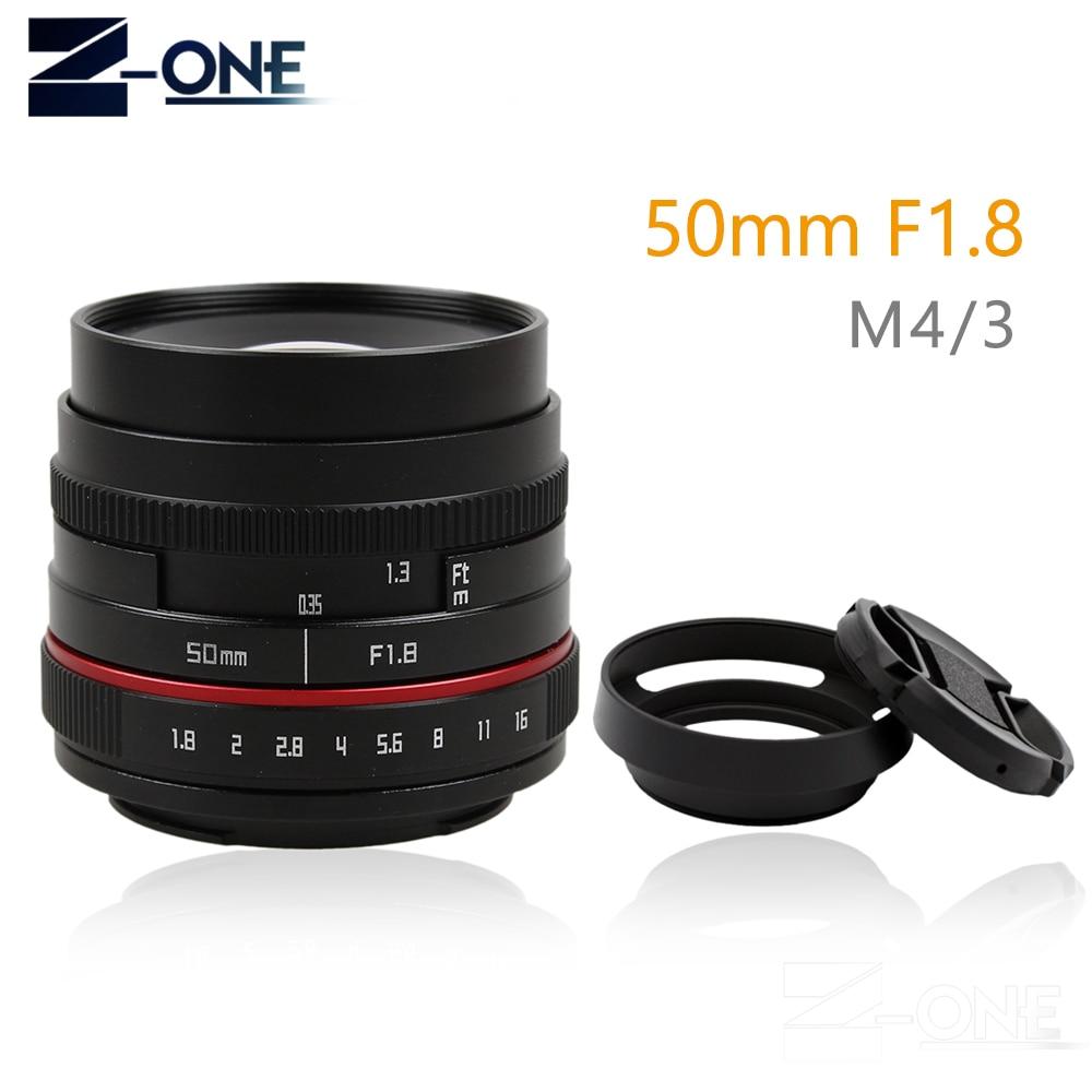 New 50mm f/1.8 APS-C F1.8 camera Lens for Olympus Panasonic M43 MFT EP5 OMD EM5 E-M1 E-M1 Mark II E-M5 E-M5 все цены