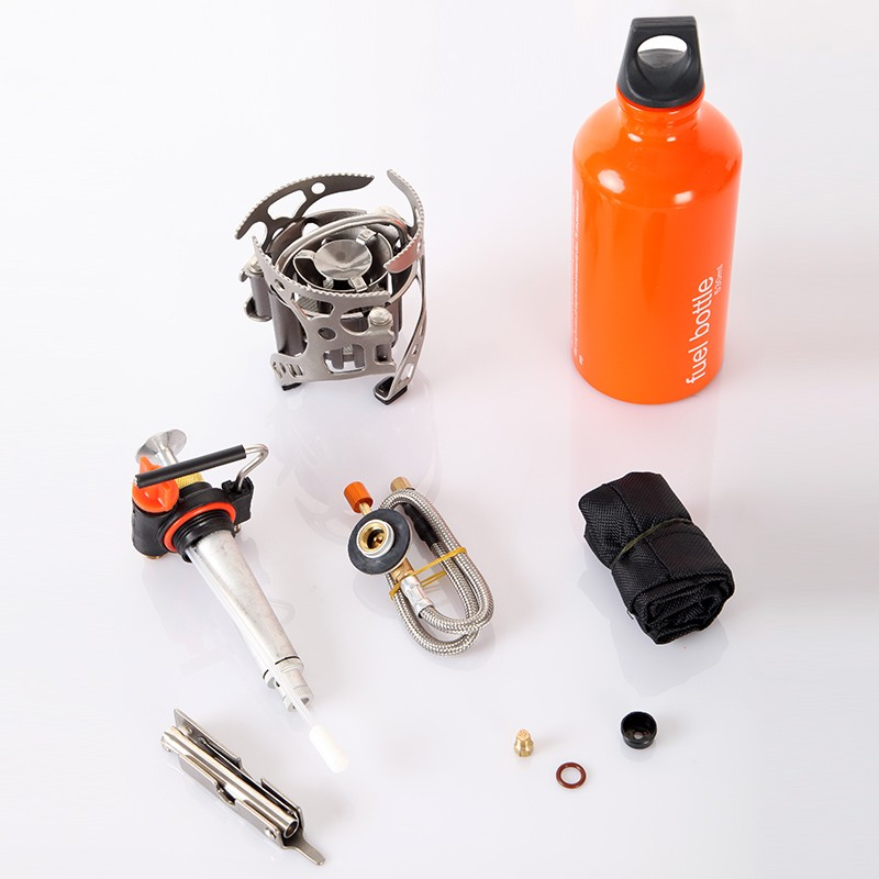 Multi Oil portable gas stove adapter outdoor camping gas cooker picnic stove wrench fuel bottle Pump field gasbrander jeebel oil stove oil box pumb outdoor oil and gas mixing non preheating oil gas mixing pump with plastic box camping