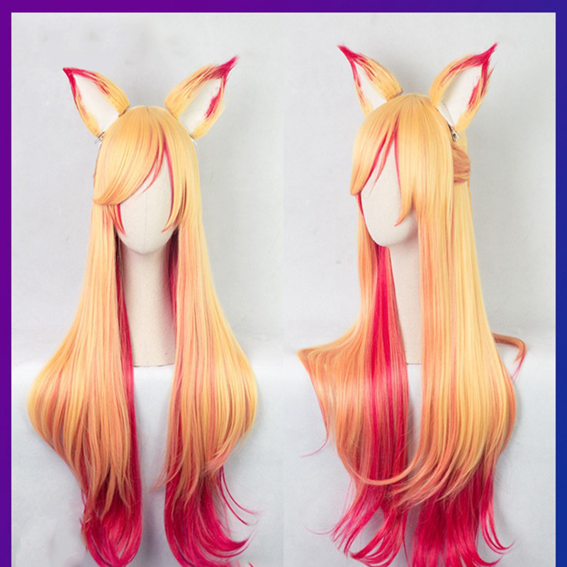 Image 3 - Game LOL Cosplay Wig Star Guardian Miss Fortune Ahri Ezreal Soraka Syndra Cosplay Wig Synthetic Hair Wig Halloween Party Wigs-in Costume Props from Novelty & Special Use