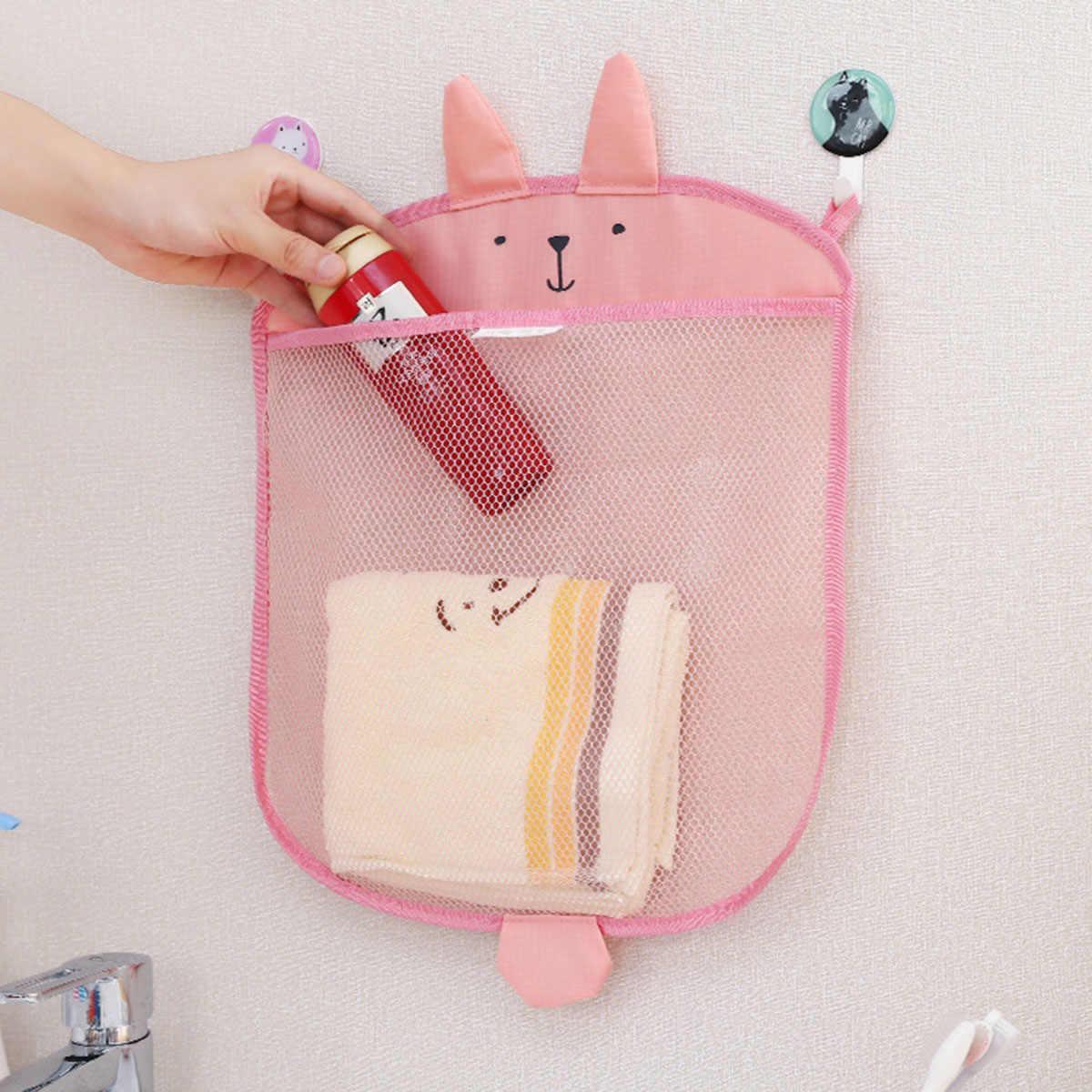 Dziecko do domu łazienka torba z siatki do wanny z hydromasażem zabawki dla dzieci wanna netto Cartoon strój kąpielowy wiszący organizator ścienny do przechowywania torby z zabawkami zabawki do kąpieli