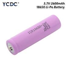1/2/4 sztuk nowy różowy 3.7 V ICR 18650 26F litowo-jonowa bateria litowa 65x18mm 18650 banku mocy latarka mikrofon laptopa wymiana komórek