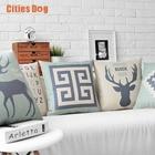 Happy deer Animals Cushion cute Cartoon Home Pillow Decoration Childlike cojines Decorative Pillows Car Cushions