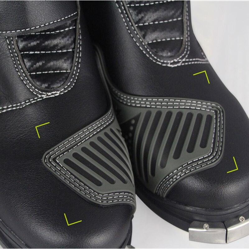 Motorrad reiten STIEFEL Wasserdicht PU Leder Schuhe Motorrad Regen BOTAS Professionelle Boot Racing Bottes Motocross Stiefel