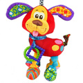 New Baby Toy Crib Bed Hanging Toy Soft Plush Cute Dog Rattle Teether Early Educational Doll