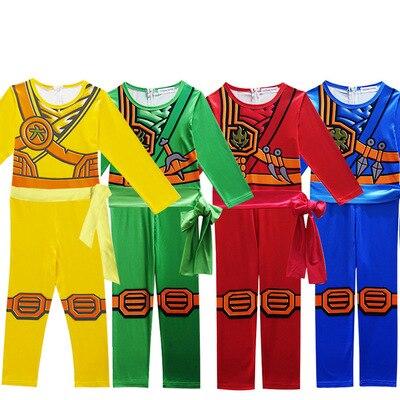 Ninjago Boys Lloyd Deluxe Costume Boys Clothes Sets Children Clothing Halloween Fancy Party Clothes Ninja Superhero Suits