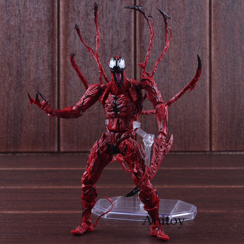 Amazing Yamaguchi Revoltech Series NO.008 Marvel Carnage Figure The Amazing Spider Man Action Figure PVC Collectible Model Toy spiderman toys marvel superhero the amazing spider man pvc action figure collectible model toy 8 20cm free shipping hrfg255