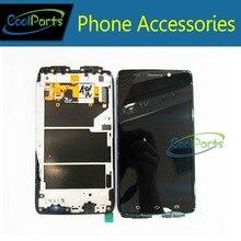 1 PC/Lot de Alta Calidad Para Motorola Droid Ultra XT1080 LCD Pantalla Y Pantalla Táctil Digitalizador Con pieza de Recambio de Frame