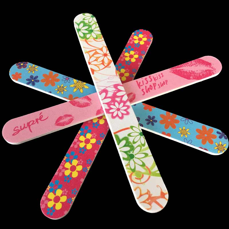 20pcs Professional Flower Print Nail Art Styling Tools Sanding Nail ...